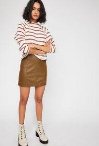 🆕️🍁FREE PEOPLE NWT Modern Femme VeganSuede Skirt